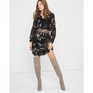 NWOT WHBM floral and lace mini dress